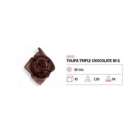 TULIPA TRIPLE CHOCOLATE 80G 45U
